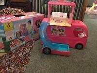 Barbie dolls camper van £20