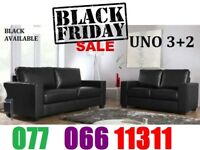 3+2 Italian leather brand new Black Friday sofa SET black or brown