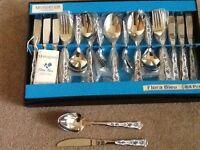 MONOGRAM vintage design cutlery canteen