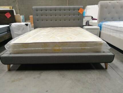 Brand New  Queen Fabric Bed Frame