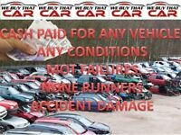 cash paid for wanted scrap cars vehicle none runners mot failures