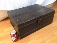 vintage metal trunk.