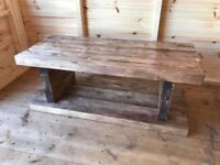 handmade coffee table / tv unit sandered and waxed
