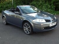 07 Renault Megane Convertible 1.6cc *Glass Panoramic Roof* New Mot*Low Miles*Serviced*Bargain* £1995