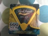 TRIVIAL PURSUIT. BOARD GAME. FAMILY EDITION.BITE SIZE.