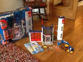 Christmas present Playmobil 4819 fire station boxed