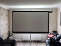"100"" 16:9 Tripod pull up projector screen (matte white)"