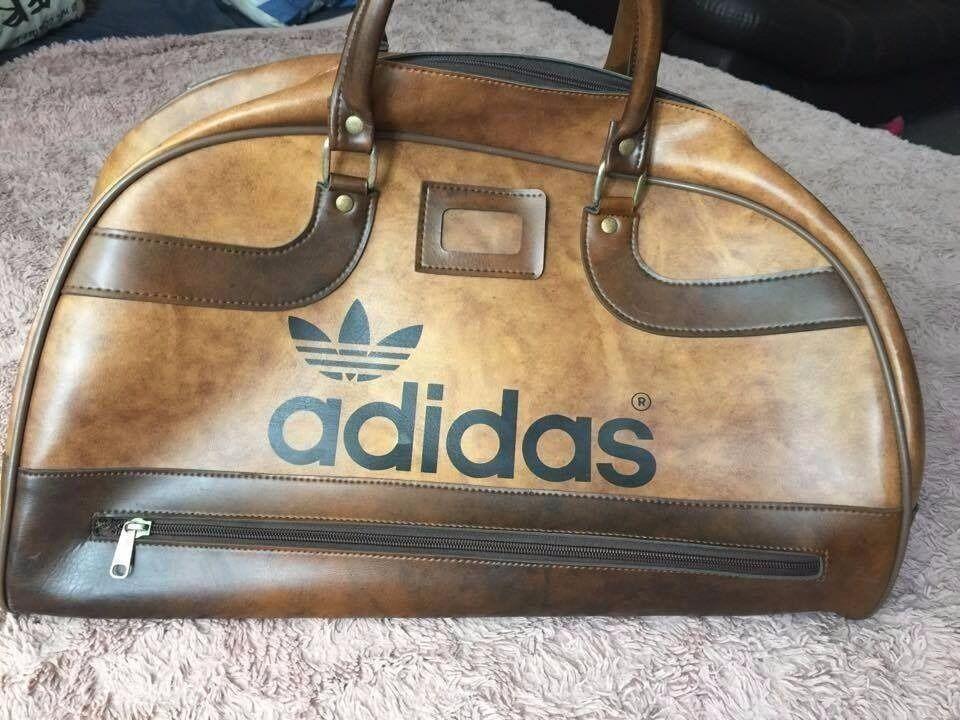 Vintage Retro Adidas Peter Black 70's Holdall Gym Weekend Bag ...