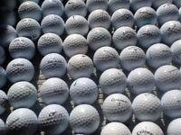 Golf balls and waterproof golf suit