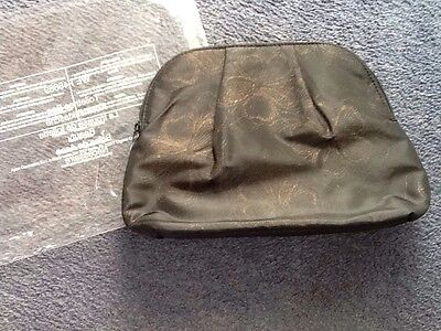 ladies black and gold toiletries bag. Avon. new.