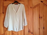 Zara Basic; Sheer white top