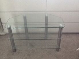 Clear Glass TV stand. Suitable for TVs up 40""
