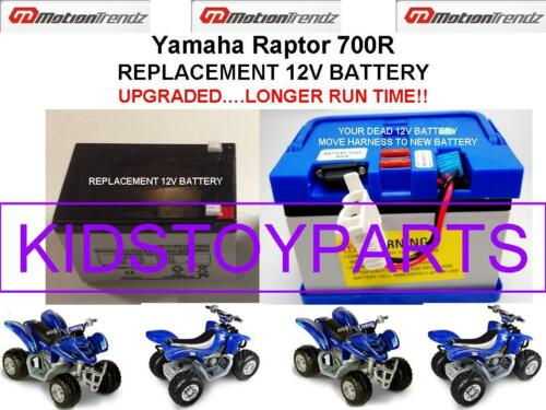 Yamaha Raptor 700R OEM REPLACEMENT 12V BATTERY LONGER RUN TIME THAN ORIGINAL!!!