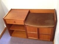 Nathan Teak Telephone Table and Seat