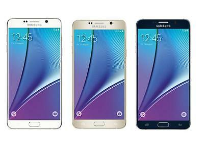 Samsung Galaxy Note 5 UNLOCKED 32/64GB - (GSM AT&T T-Mobile H20) 4G Smartphone