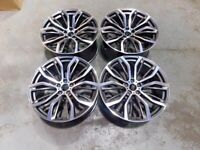 22″ Inch Staggered X5 X6 375M Style Alloy Wheels 5x120 F15 F16 E70 E71 X5M X6M F85 F86 74.1