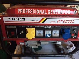 New 6.5 horsepower generator with 110 and 220v outputs