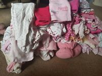 big bundle of newborn and 0-3 months girl clothes