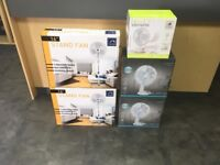 "Brand New - Standing / Desk Fans - White - 3 Size's Available - 9"", 12"" & 16"""