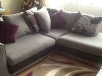 Corner sofa 226cm X 196cm and chair as new £350