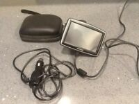 Tom Tom XL complete with charging lead, case and 12 volt charger