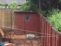 Timber Shed! Must go before weekend! Approx 4x4 feet