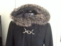 Black coat size 10