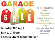 Garage Sale Saturday 30th April Mount Barker Mount Barker Area Preview