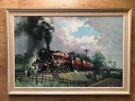 The Lickey Incline - Jubilee Class Steam Locomotive Print By Terrence Cuneo 1968