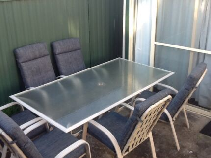 8 seater outdoor dining table plus chairs Mortdale Hurstville Area Preview