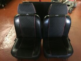 VINTAGE Mini Half Leather Seats - Front & Rear