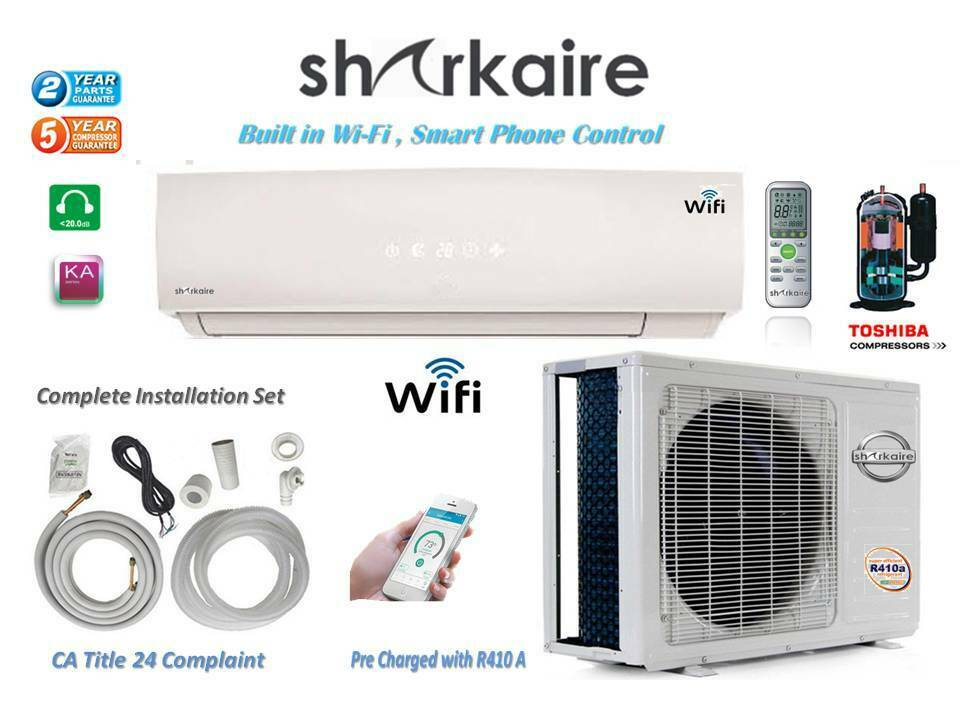 12000 BTU Mini Split  Ductless Air Conditioner with Wi-FI Sm