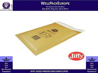 50 x GENUINE GOLD JIFFY PADDED ENVELOPES BUBBLE MAILING BAGS - JL2 - +FREE P&P