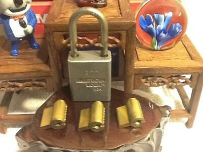 3 American Padlock Cylinders 1 Lock Body No Keys For The Lock Sport
