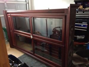 Dining room display cabinet glass and solid wood