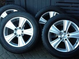 Mint alloys with new winter tyres