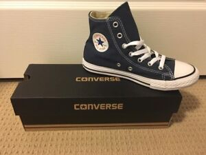 Brand New High Top Blue Converse - Size Youth 2 b68f0ce25