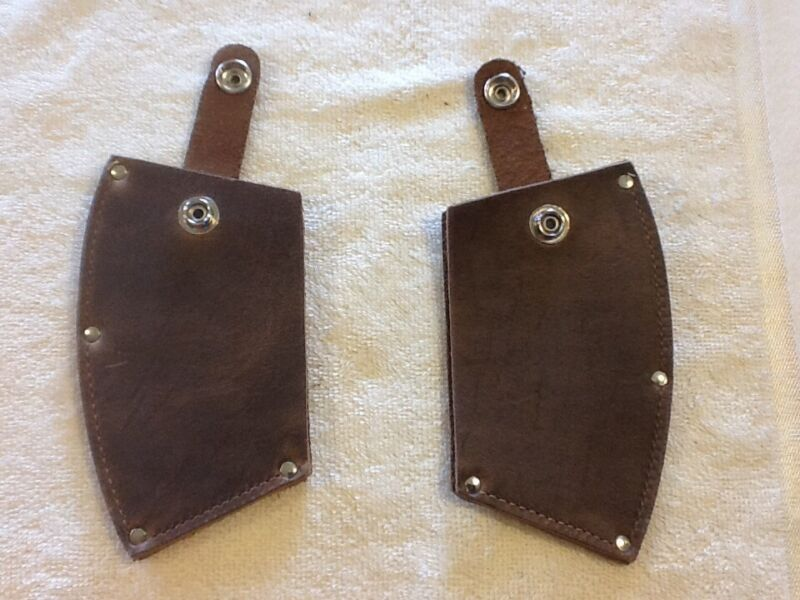 LEATHER AXE SHEATH, PAIR of GUARDS, DOUBLE BIT, BITTED AXE, AX