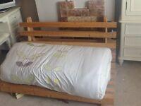 Double wooden futon