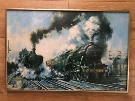 Heading North - The Flying Scotsman Framed Print By Alan Fearnley 1974