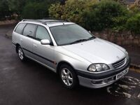 1998 R Reg Toyota Avensis 2.0 CX, Petrol, Automatic, Estate, Metallic Silver, Full service history