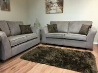 Brand New Fabric Sofa Suite 3 Seater + 2 Seater