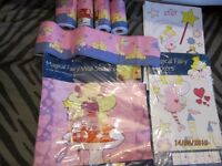 PINK AND PURPLE FAIRY PRINCESS DECORATING ITEMS BORDERS,WALL STICKERS AND SOME STICKAROUNDS ALL NEW