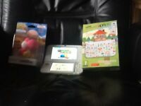 Nintendo 3ds XL with 36 games and yoshi amiibo
