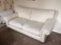 Laura Ashley sofa, chair and footstool
