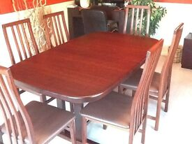 Beaver & Tapley Burgundy Oak Dining Room Furniture