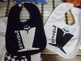 Brand new 'Madness' bibs, in black and white, with the famous Madness logo on the front.