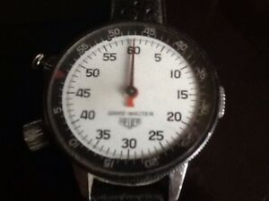 VINTAGE 1970s  HEUER WRIST STOPWATCH  ( from the 76 OLYMPICS )