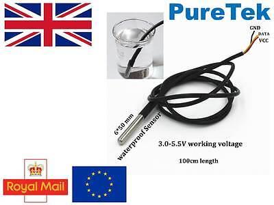 Ds18b20 Waterproof Sensor Thermal Probe Temperature Thermometer Rpi Esp8266 Etc