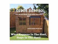 Sheds summerhouses playhouses